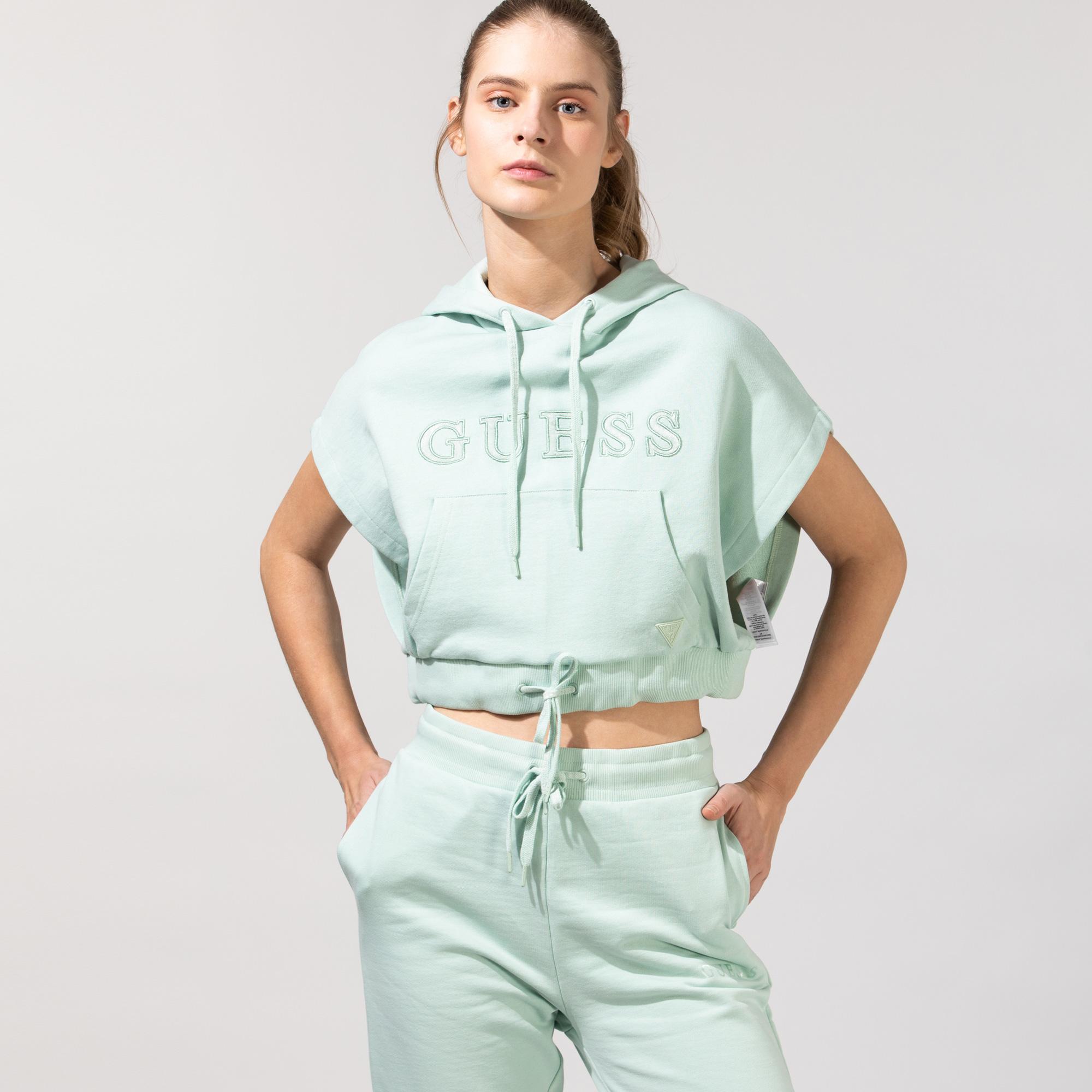 Guess Kadın Yeşil Sweatshirt
