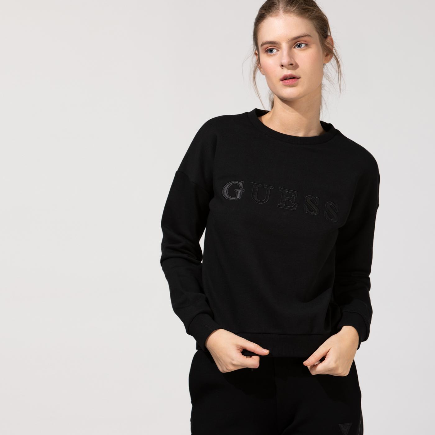 Guess Kadın Siyah Sweatshirt