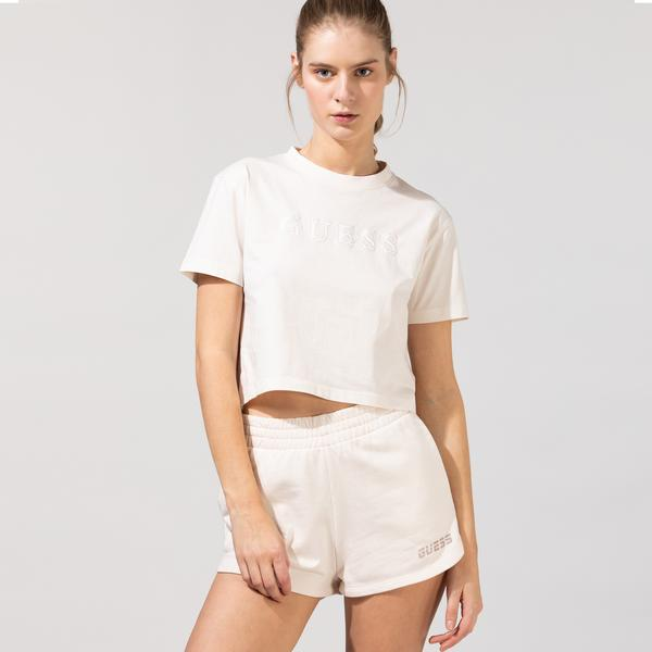Guess Kadın Beyaz T-Shirt