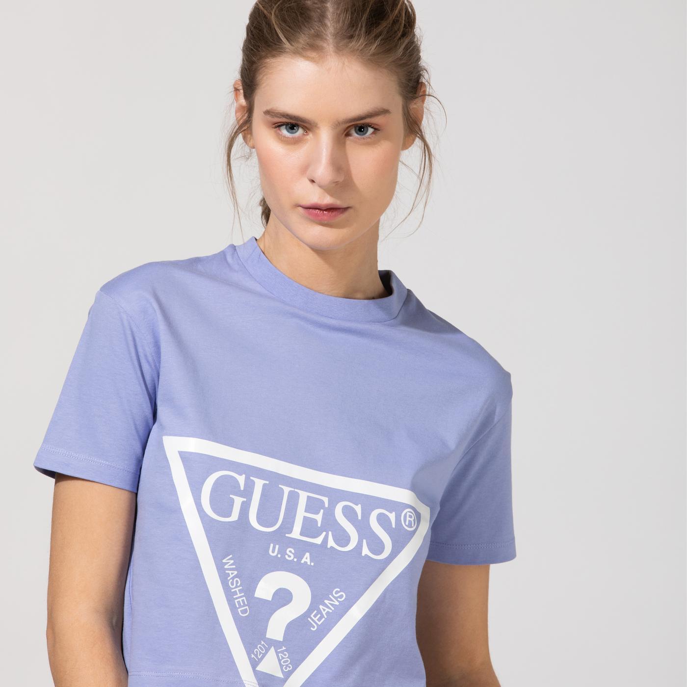 Guess Kadın Mor T-Shirt