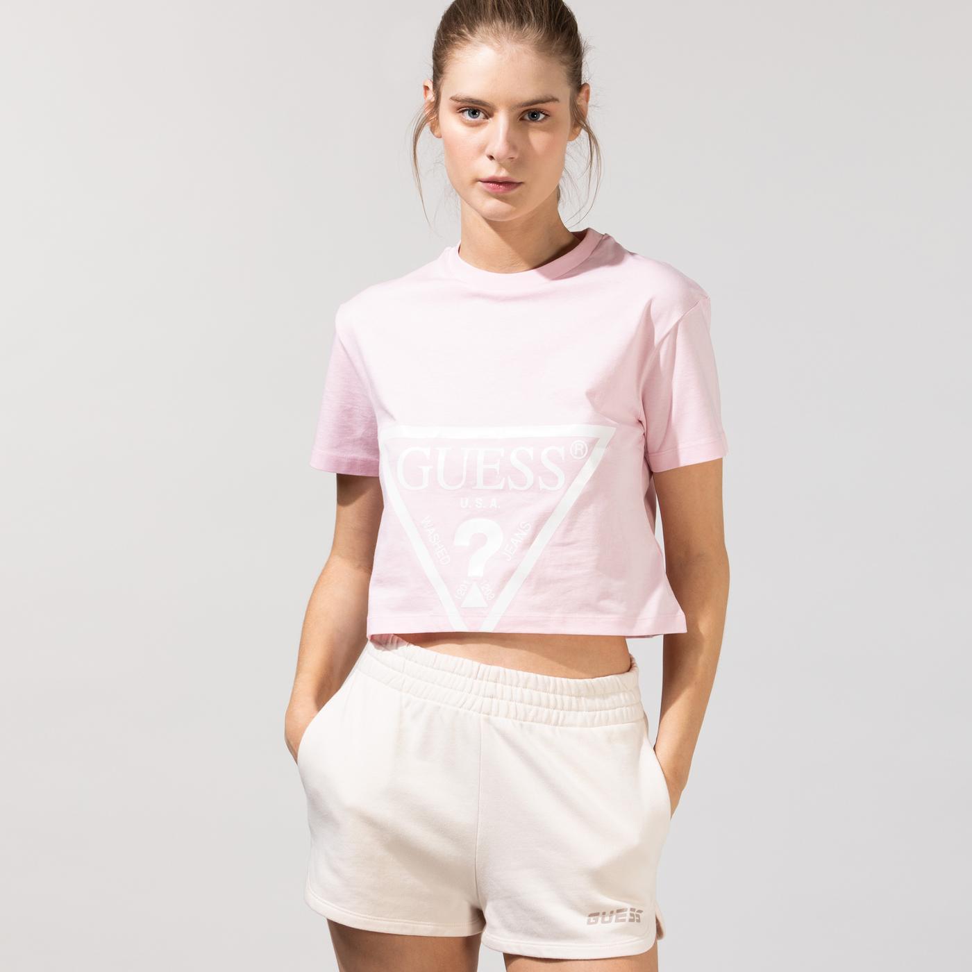 Guess Kadın Pembe T-Shirt