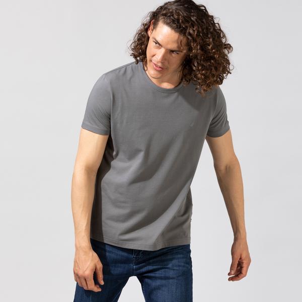 Nautica Erkek Gri Standart Fit T-Shirt