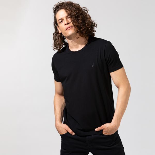 Nautica Erkek Siyah Standart Fit T-Shirt