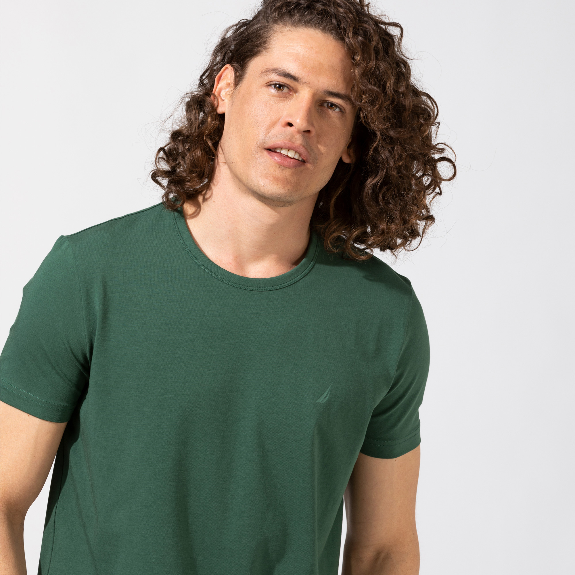 Nautica Erkek Yeşil Standart Fit T-Shirt