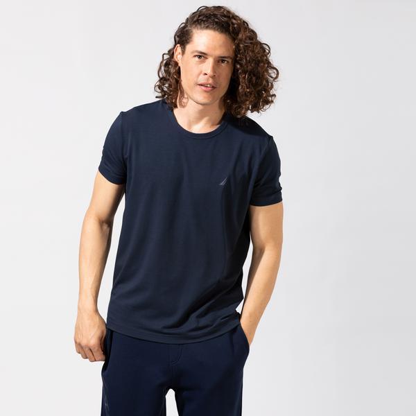 Nautica Erkek Lacivert Standart Fit T-Shirt