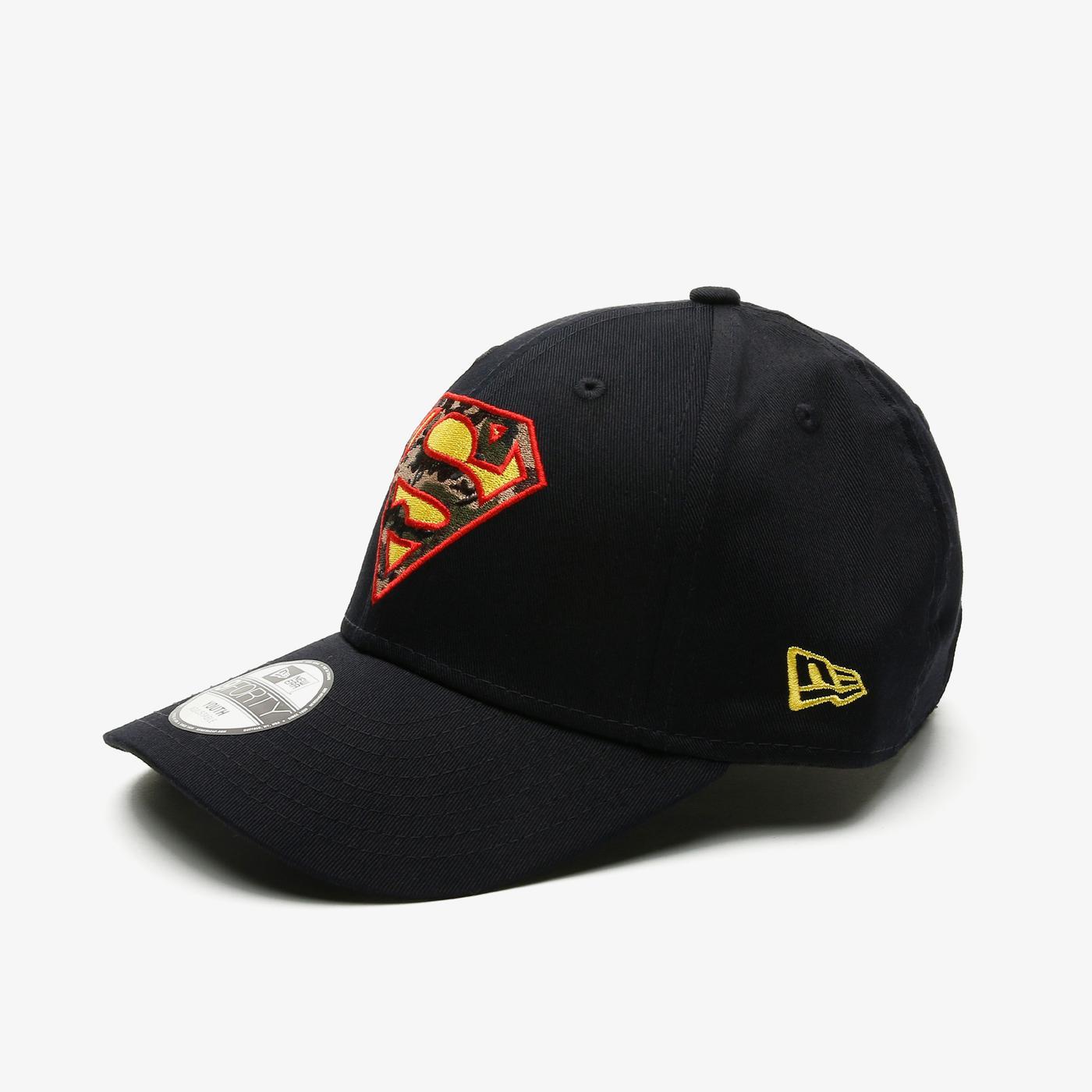 New Era Superman CY Character Infill 9Forty Çocuk Siyah Şapka