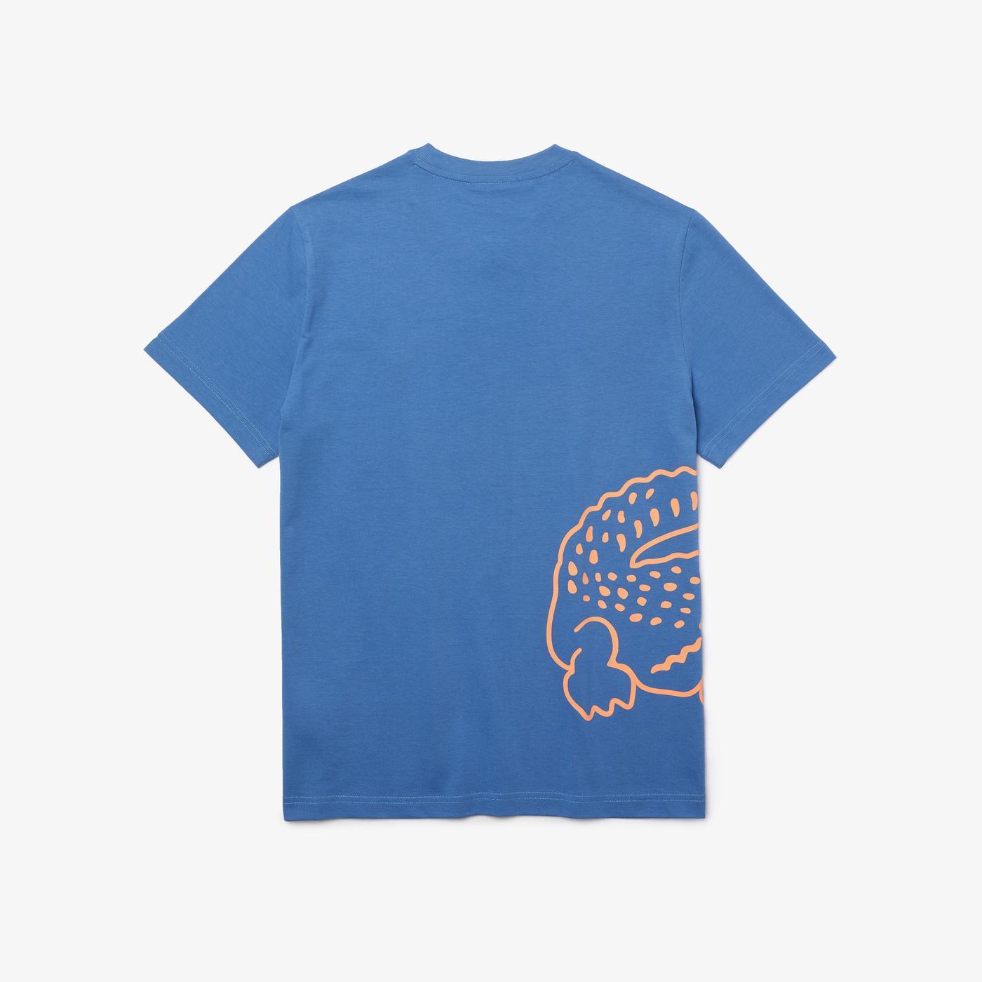 Lacoste Erkek Baskılı Mavi T-Shirt