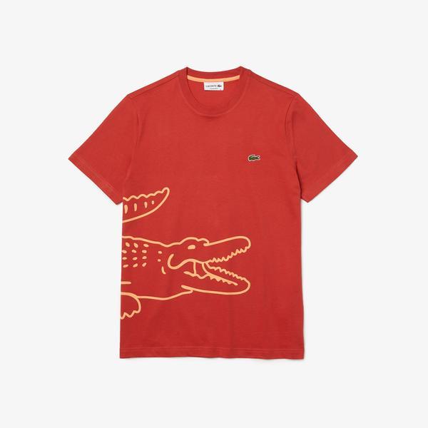 Lacoste Erkek Baskılı Kırmızı T-Shirt