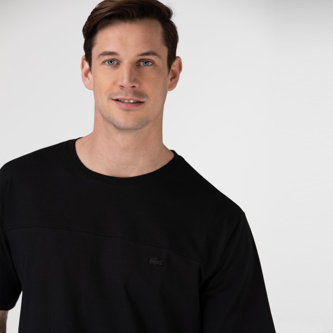 Lacoste Erkek Baskılı Siyah T-Shirt