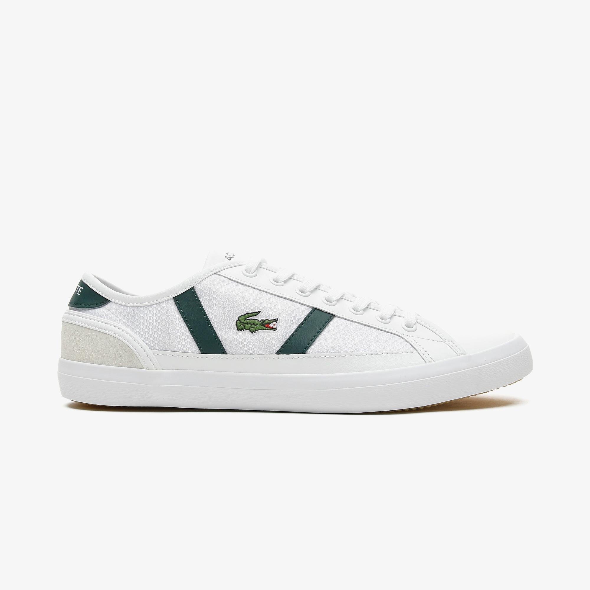 Lacoste Sideline 0721 1 Cma Erkek Beyaz - Koyu Yeşil Spor Ayakkabı
