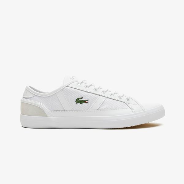 Lacoste Sideline 0721 1 Cma Erkek Beyaz Spor Ayakkabı