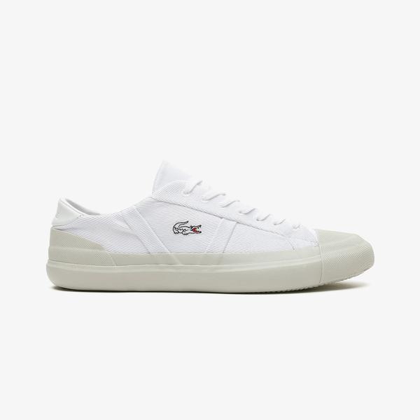 Lacoste Sideline 0921 1 Cma Erkek Beyaz Spor Ayakkabı
