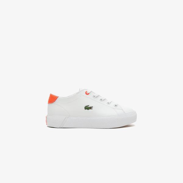 Lacoste Gripshot 0721 1 Cuc Çocuk Beyaz - Pembe Spor Ayakkabı