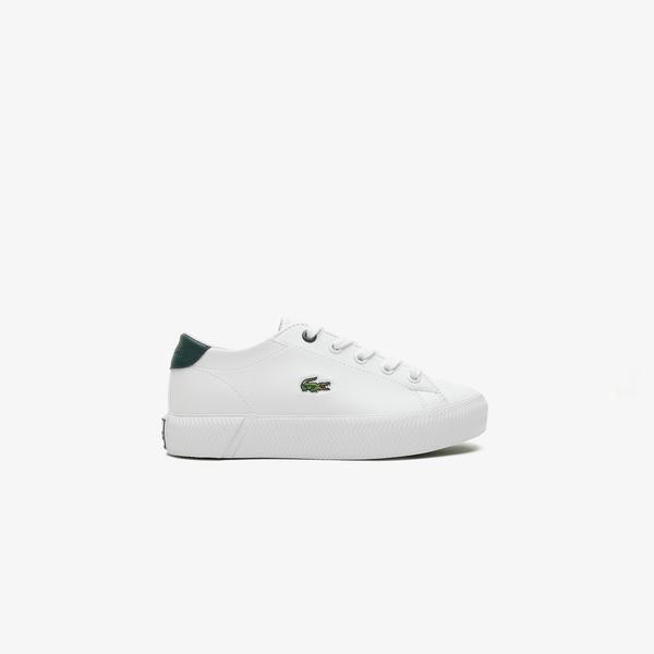 Lacoste Gripshot 0721 1 Cuc Çocuk Beyaz - Koyu Yeşil Spor Ayakkabı