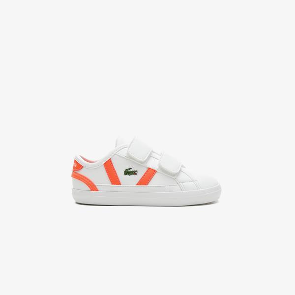 Lacoste Sideline 0721 1 Cui Çocuk Beyaz - Pembe Spor Ayakkabı