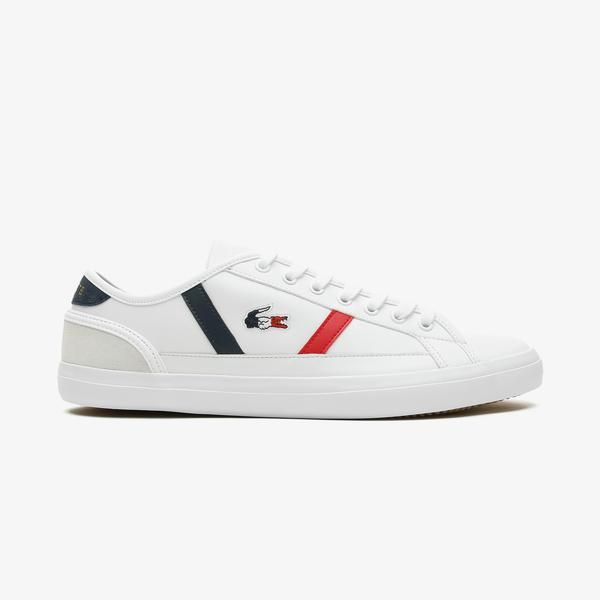 Lacoste Sideline Tri1 Cma Erkek Beyaz - Lacivert - Kırmızı Spor Ayakkabı