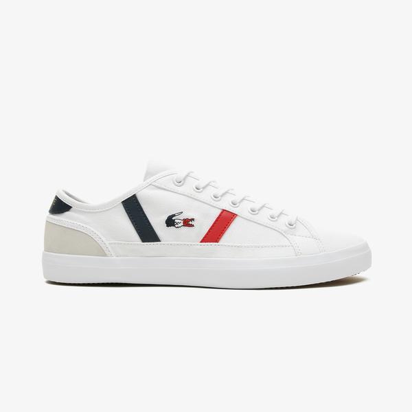 Lacoste Sideline Tri2 Cma Erkek Beyaz - Lacivert - Kırmızı Spor Ayakkabı