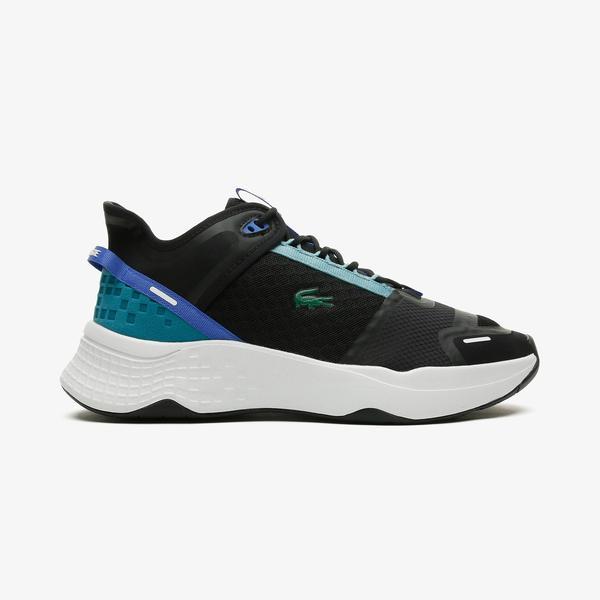 Lacoste Court-Drivevntge09211Sma Erkek Deri Siyah - Turkuaz Spor Ayakkabı