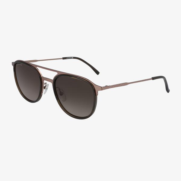 Lacoste Oval Erkek Kahverengi Güneş Gözlüğü