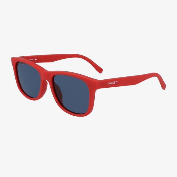 Lacoste Rectangle Çocuk Kırmızı Güneş Gözlüğü