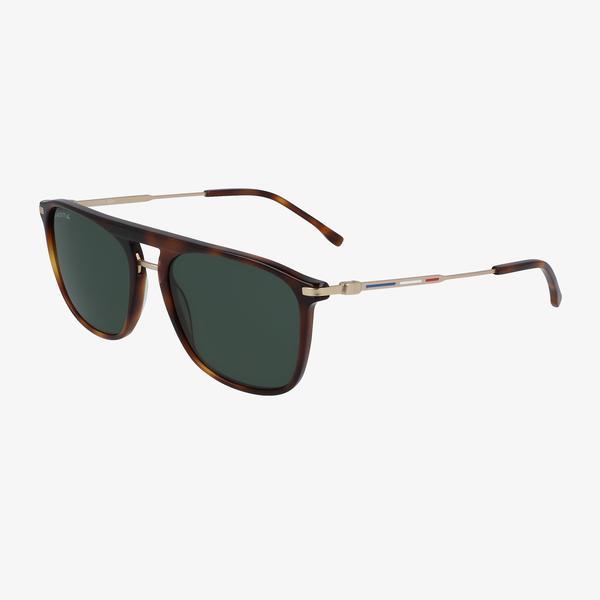 Lacoste Navigator Erkek Kahverengi Güneş Gözlüğü
