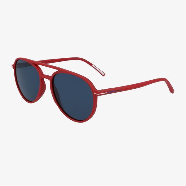 Lacoste Aviator Erkek Kırmızı Güneş Gözlüğü