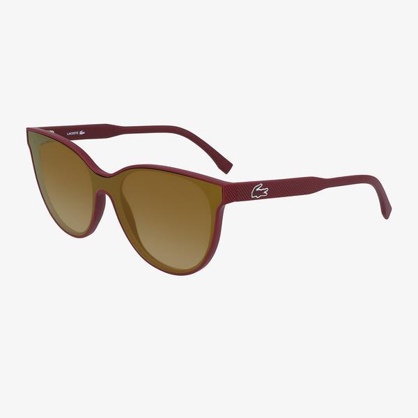 Lacoste Shield Kadın Bordo Güneş Gözlüğü