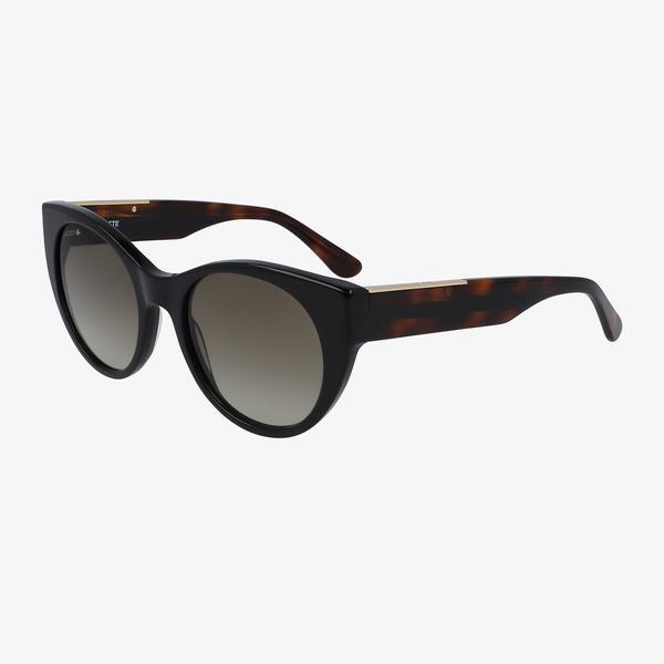 Lacoste Oval Kadın Siyah Güneş Gözlüğü