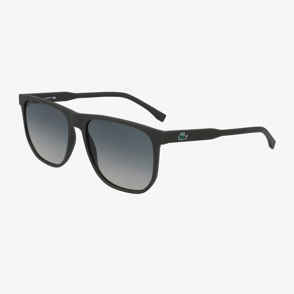 Lacoste Modified Rectangle Erkek Siyah Güneş Gözlüğü
