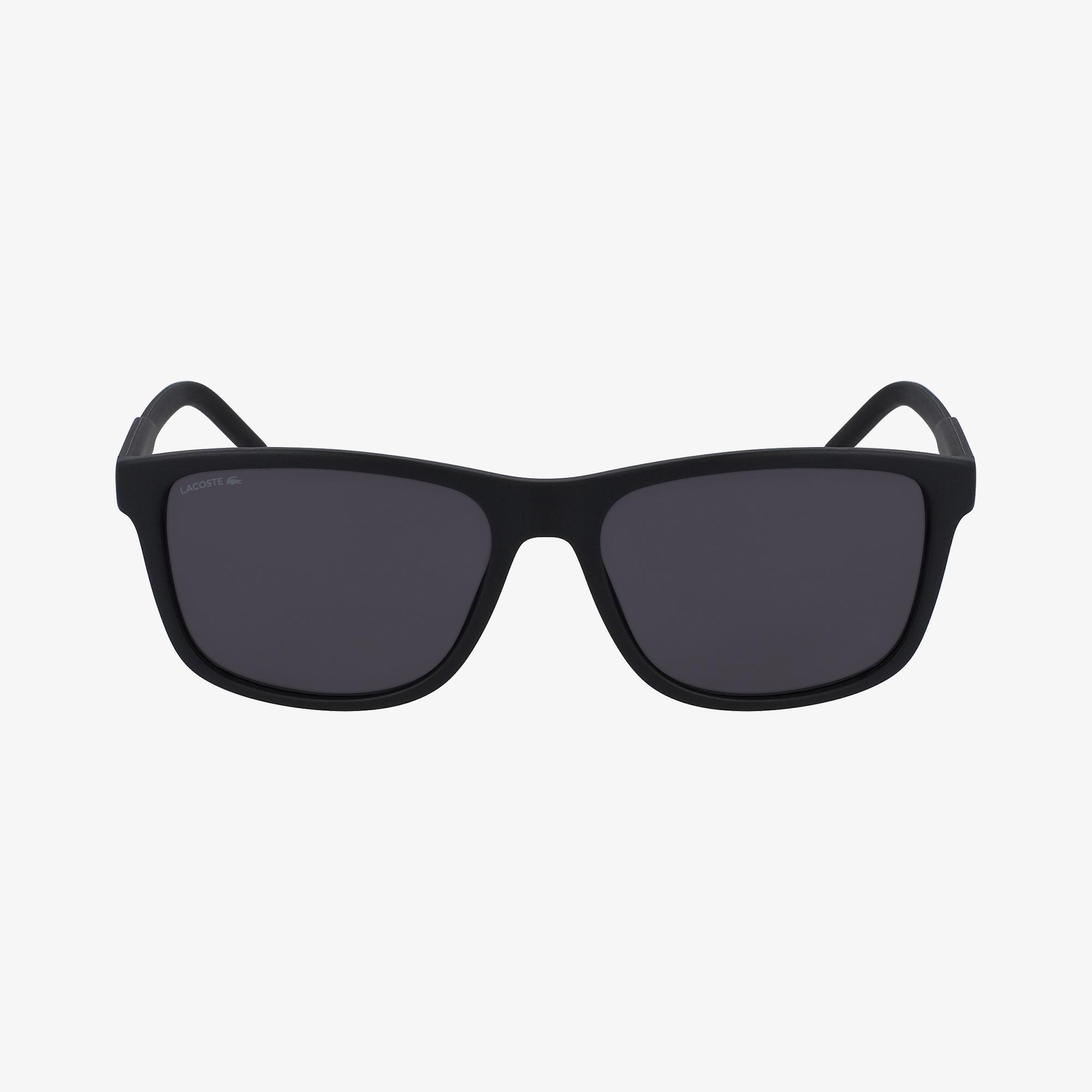 Lacoste Modified Rectangle Unisex Siyah Güneş Gözlüğü