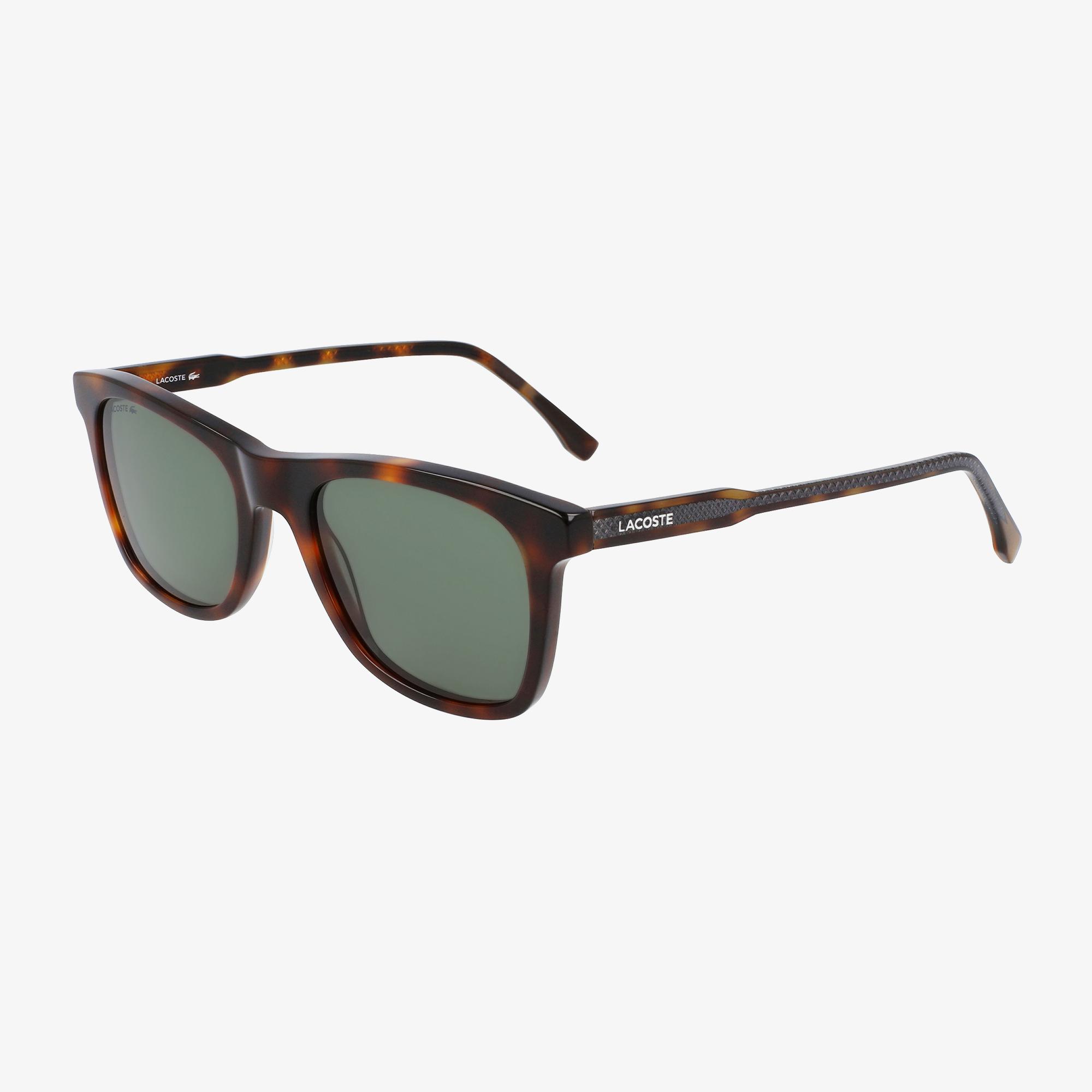 Lacoste Modified Rectangle Erkek Kahverengi Güneş Gözlüğü