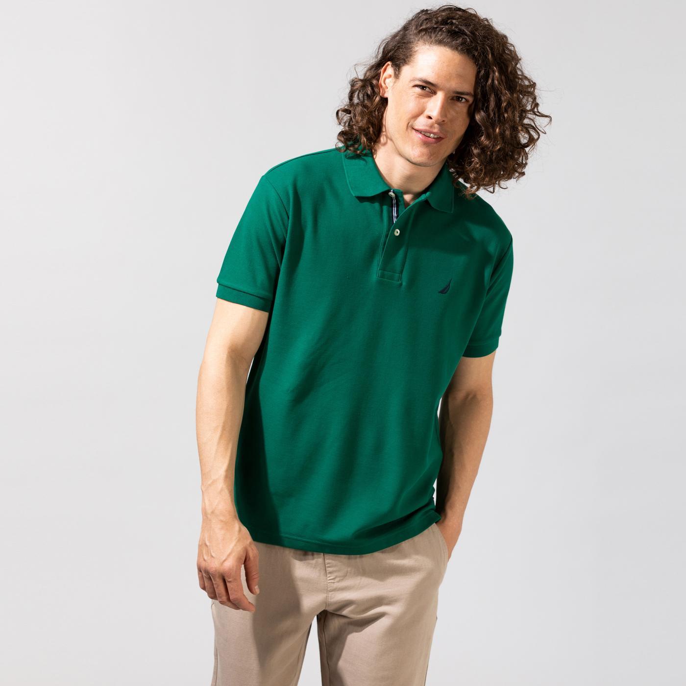 Nautica Erkek Yeşil Classic Fit Polo