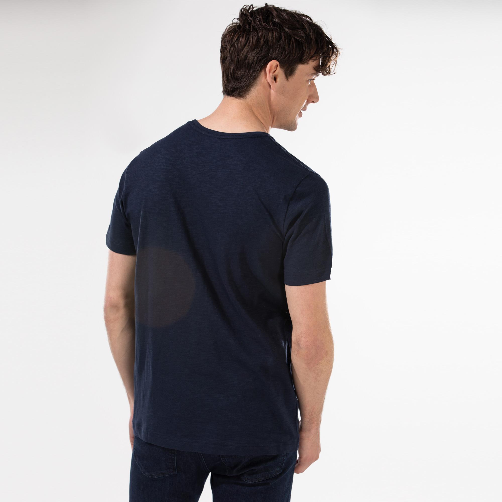 Nautica Erkek Lacivert Baskılı T-Shirt