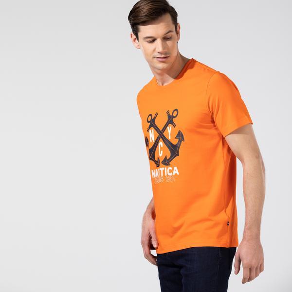 Nautica Erkek Turuncu T-Shirt