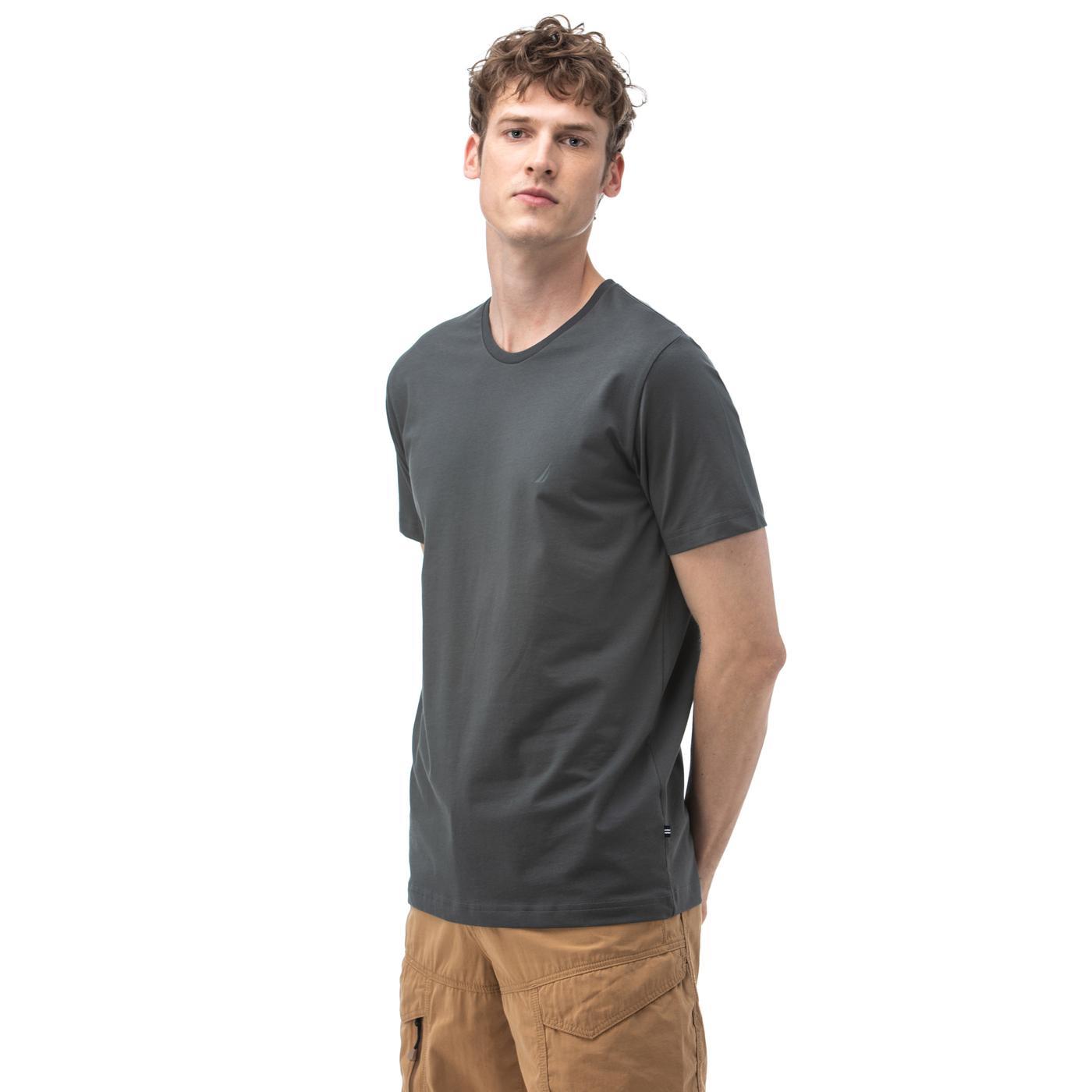 Nautica Erkek Gri T-Shirt
