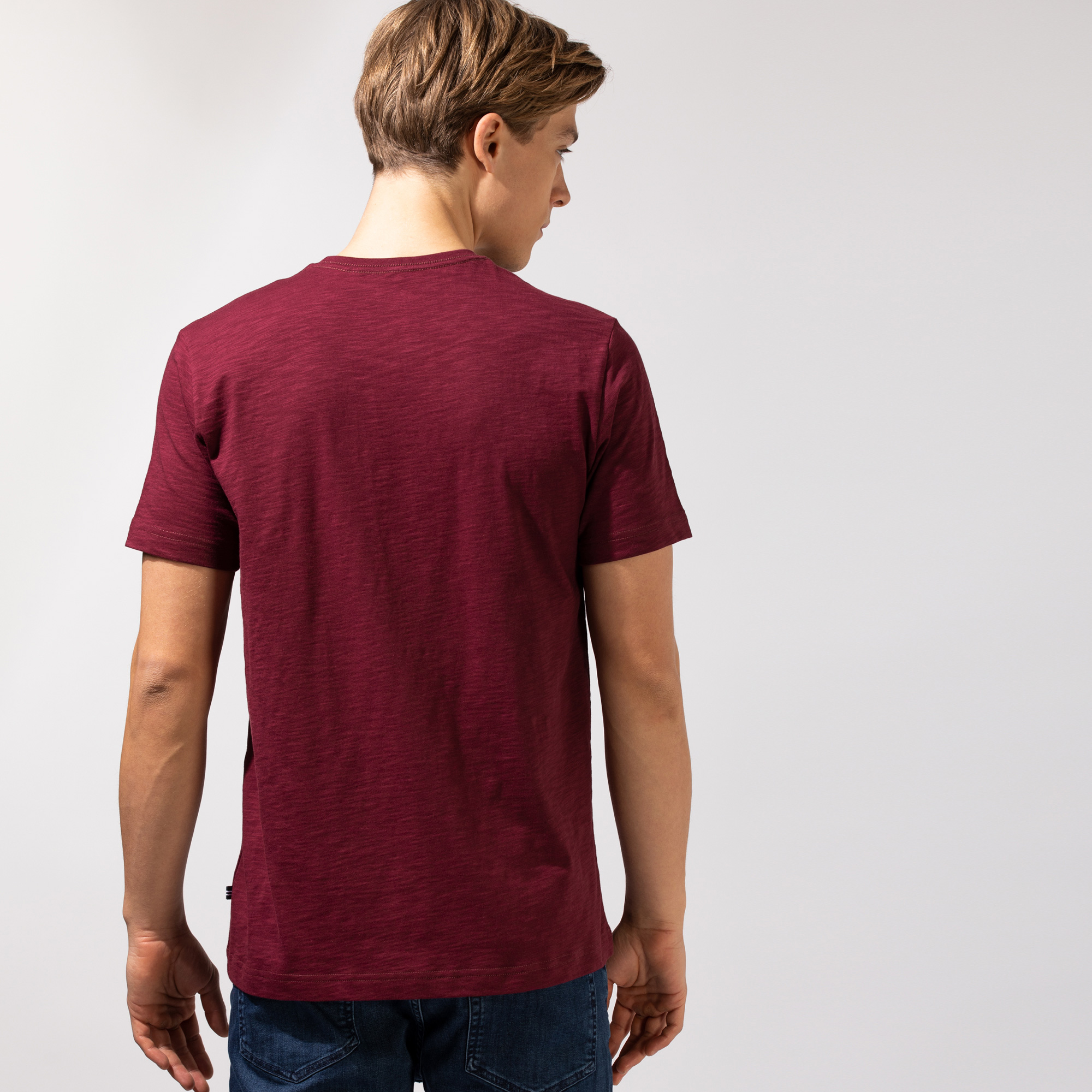 Nautica Erkek Bordo T-Shirt