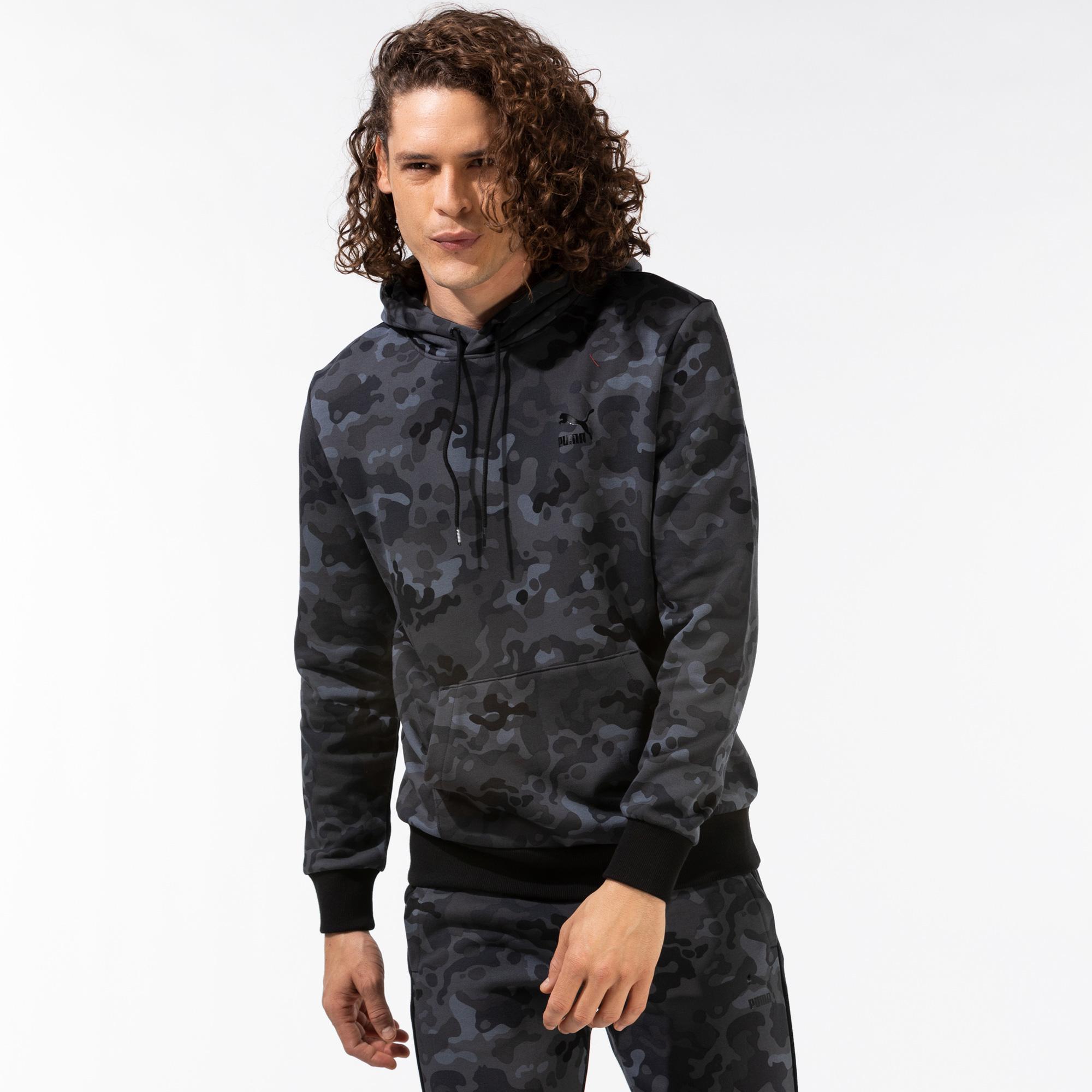 Puma Classics Graphics Erkek Siyah Sweatshirt
