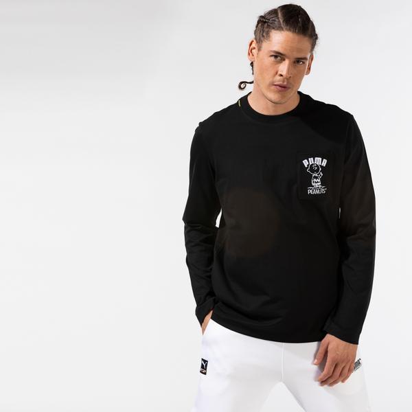 Puma X Peanuts Ls Erkek Siyah T-Shirt