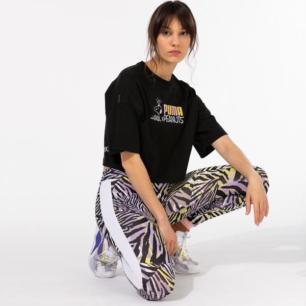 Puma X Peanuts Kadın Siyah T-Shirt