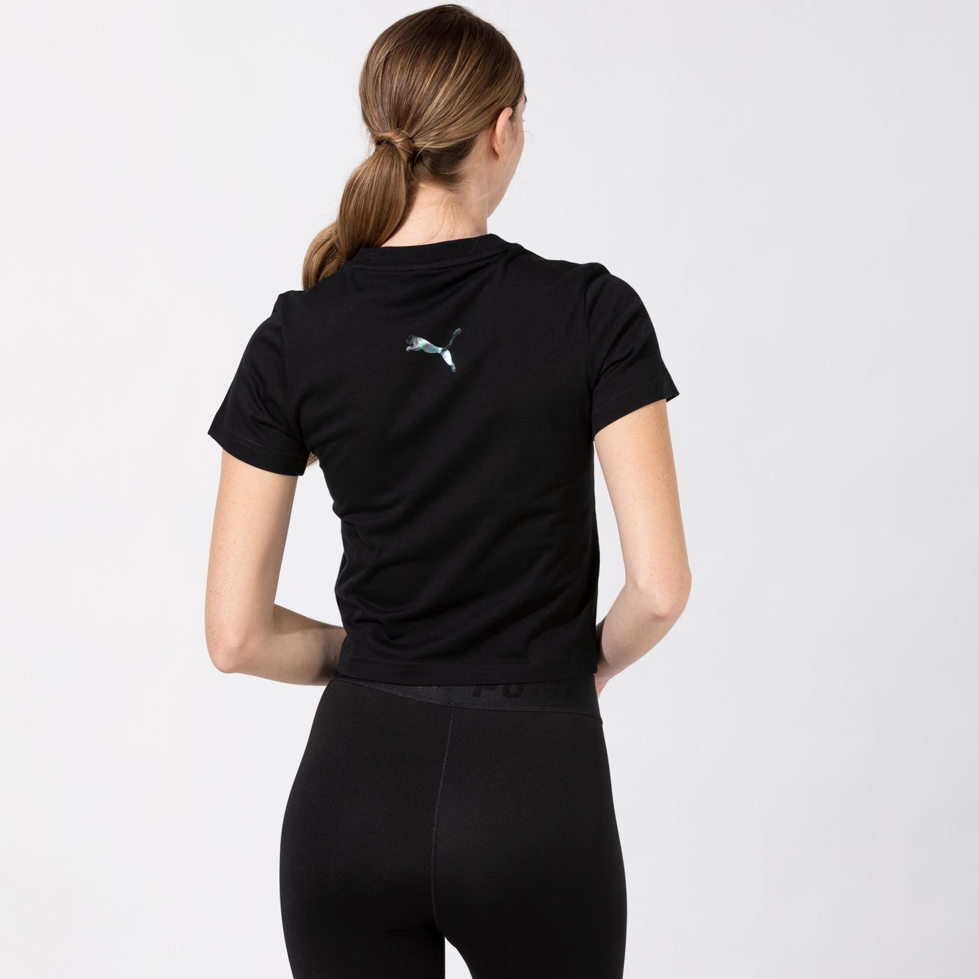 Puma Evide Graphic Kadın Siyah T-Shirt