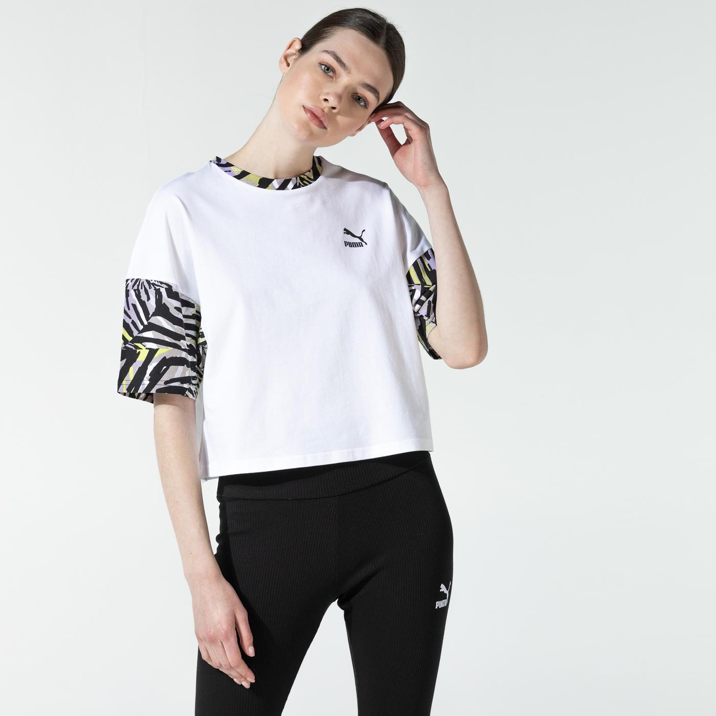 Puma Cg Boyfriend Kadın Beyaz T-Shirt