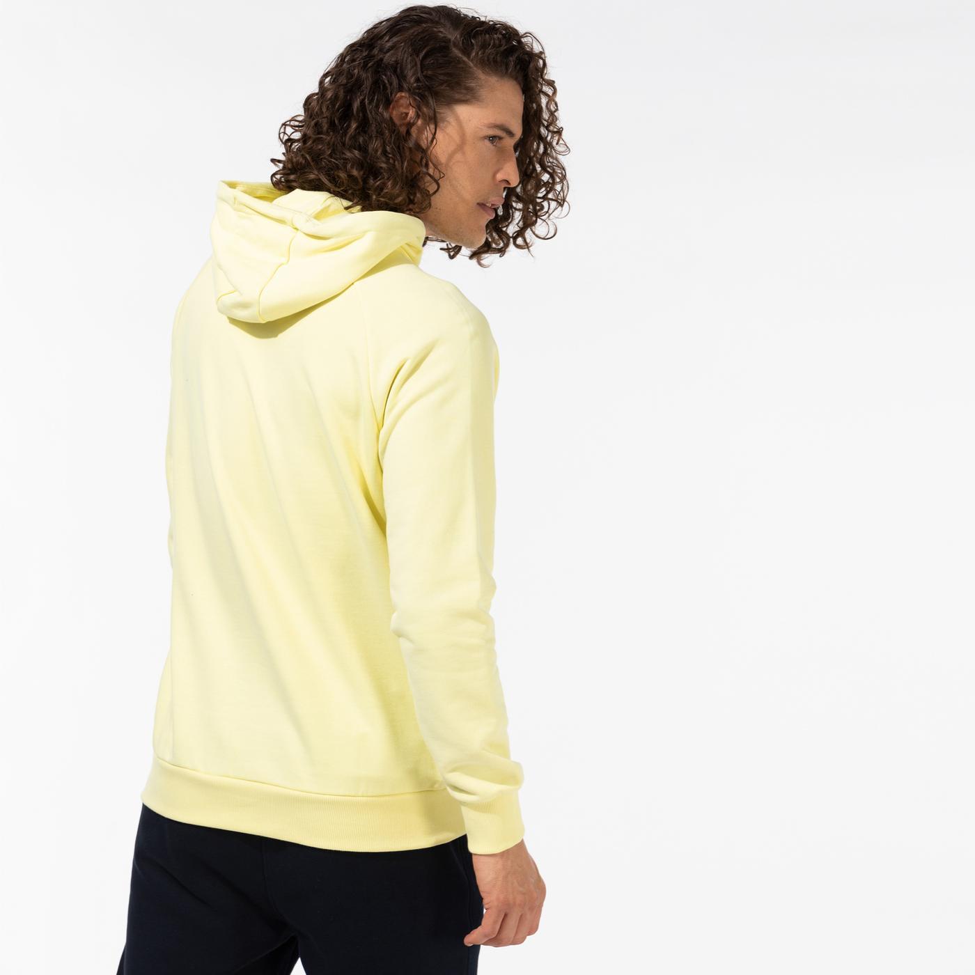 Puma International Graphic Erkek Sarı Kapüşonlu Sweatshirt