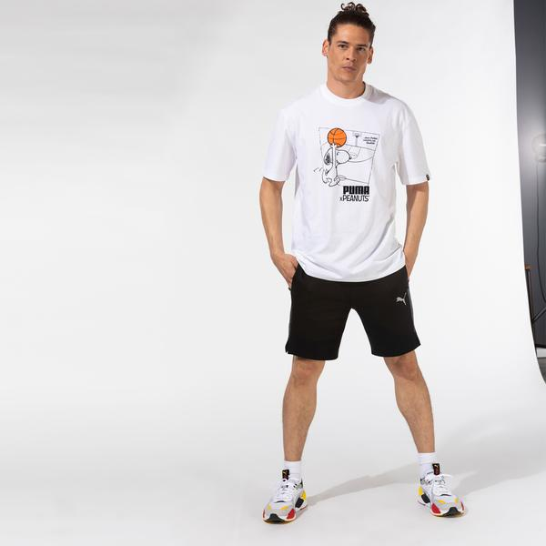 Puma X Peanuts Erkek Beyaz T-Shirt