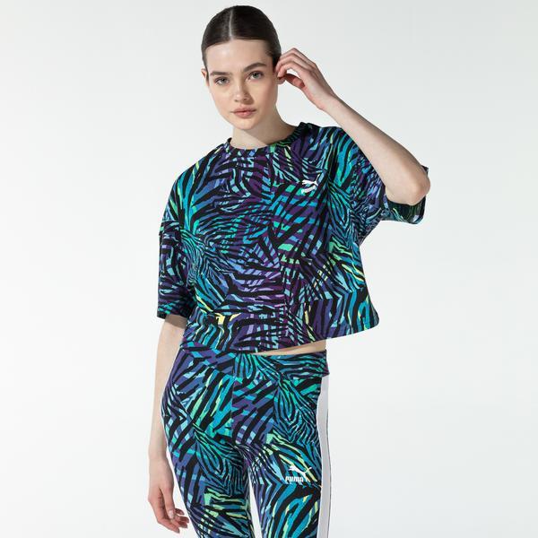 Puma CG Boyfriend Kadın Mavi T-Shirt