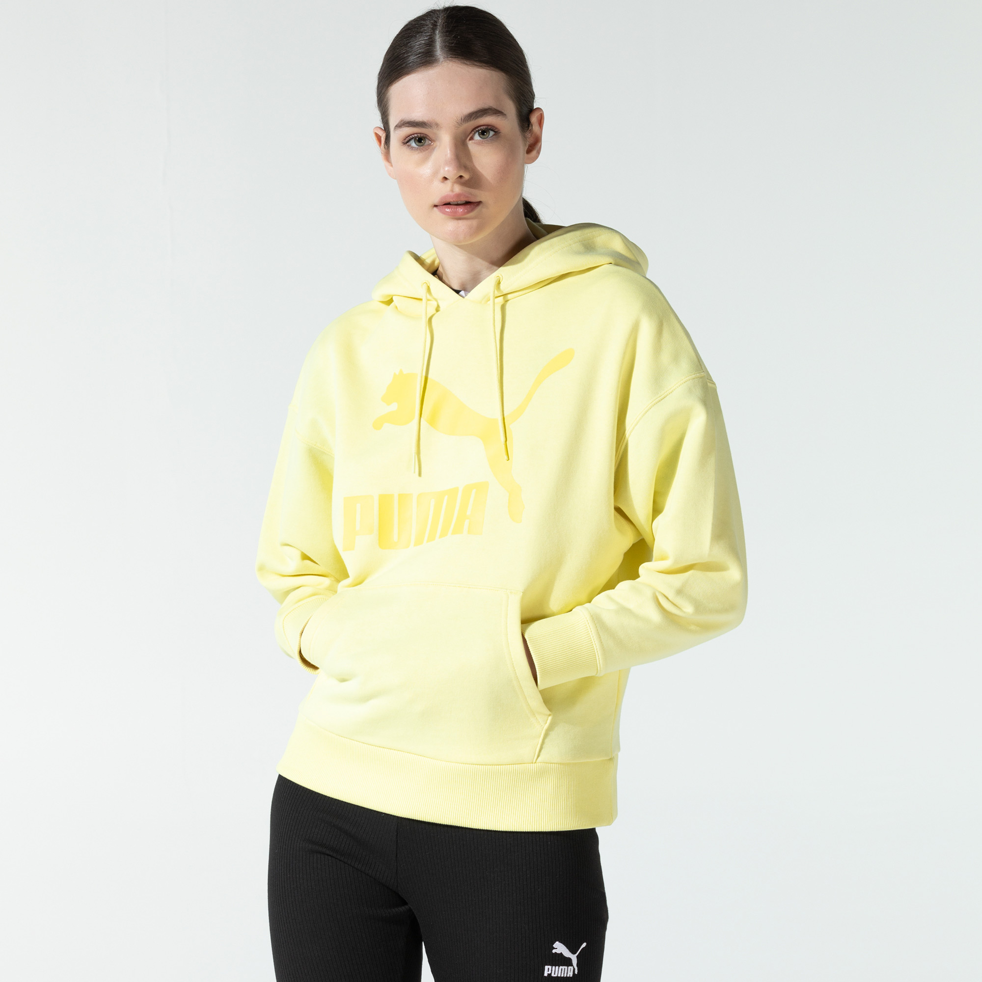 Puma Classics Logo Kadın Sarı Sweatshirt