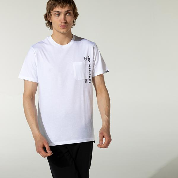 Vans Quick Response Pocket Erkek Beyaz T-Shirt