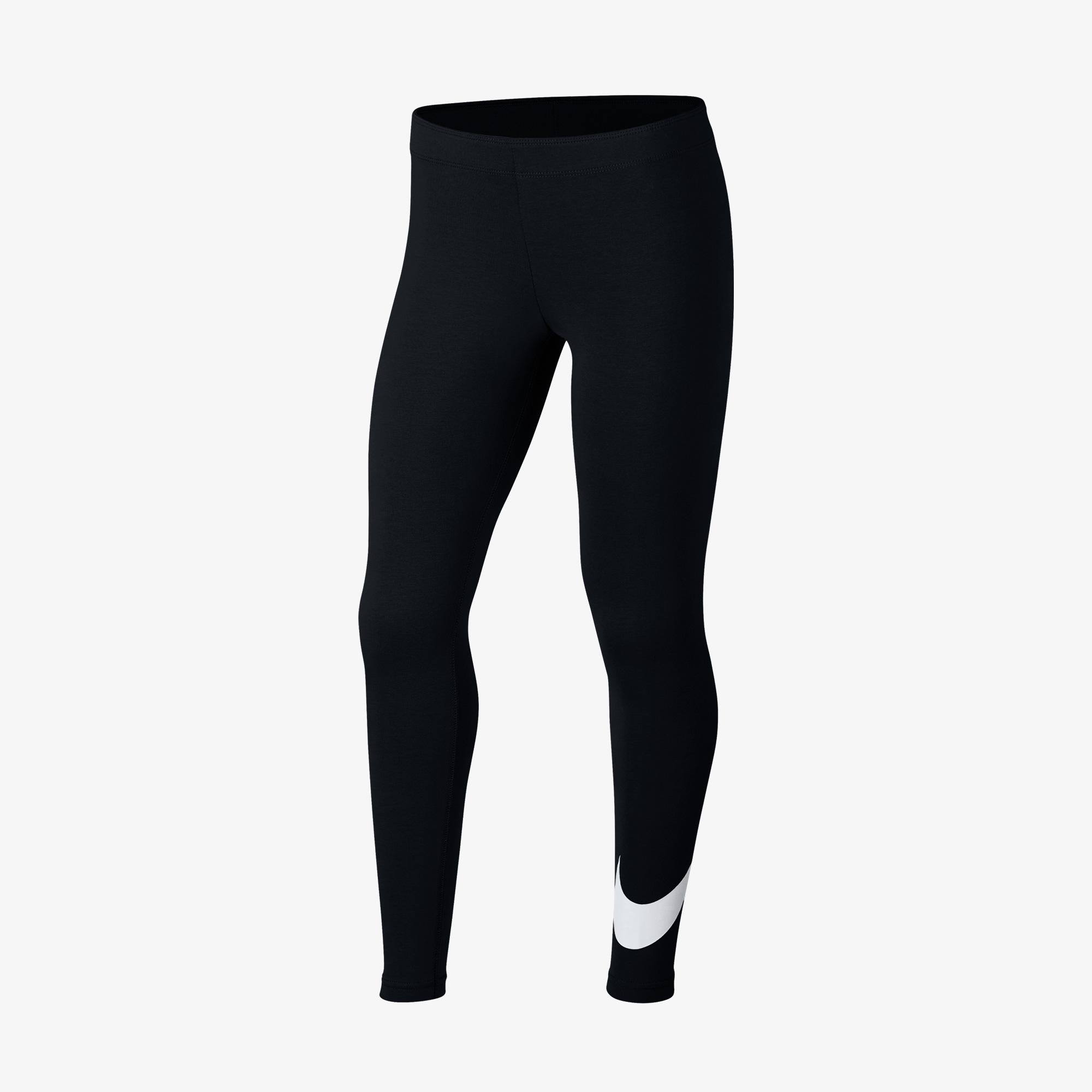 Nike Favorites Swoosh Tight Çocuk Siyah Tayt