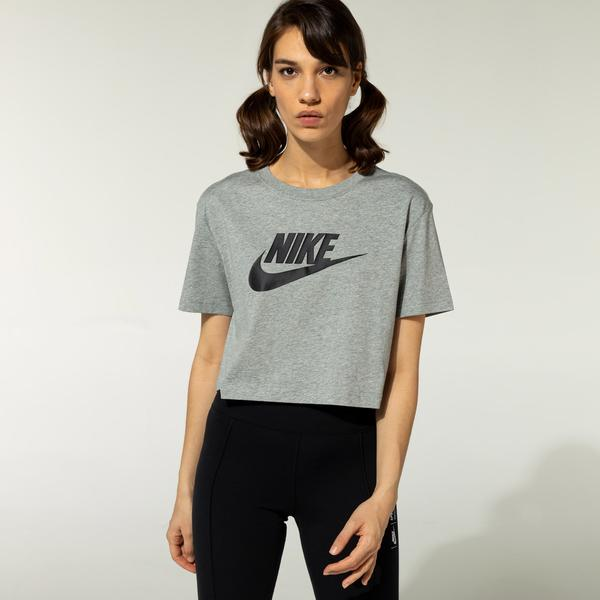 Nike Sportswear Essential Kadın Gri T-Shirt