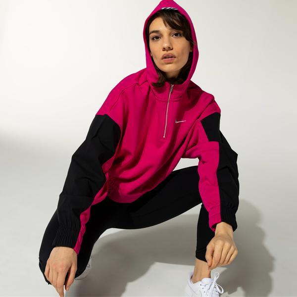 Nike Sportswear Icon Clash Kadın Pembe Sweatshirt