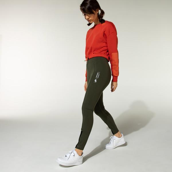 Nike Sportswear Leg-A-See Kadın Yeşil Tayt